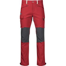Bergans Nordmarka Hybrid Pants Men red sand/solid dark grey